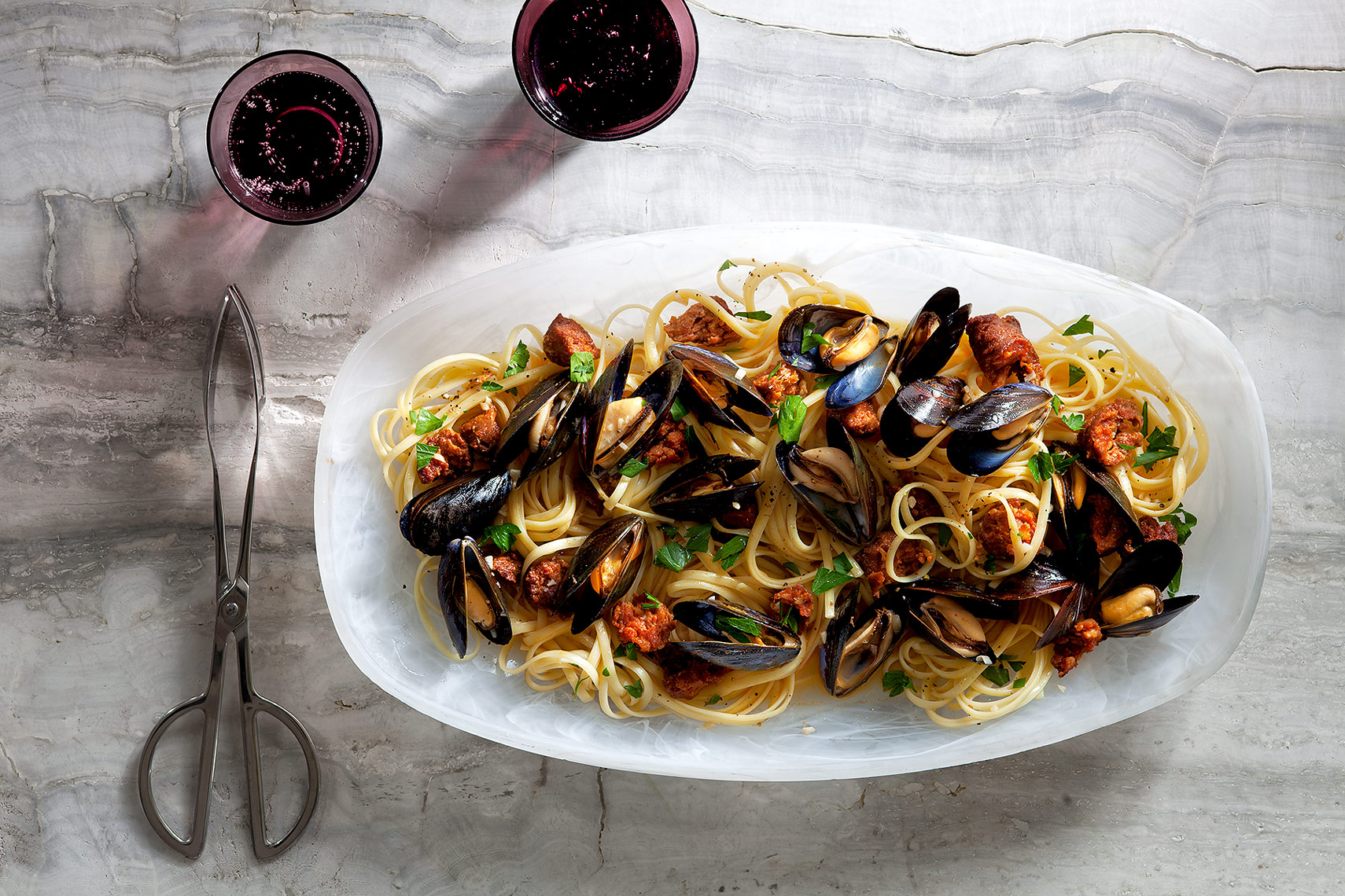 Food Photography Toronto Linguini Mussels